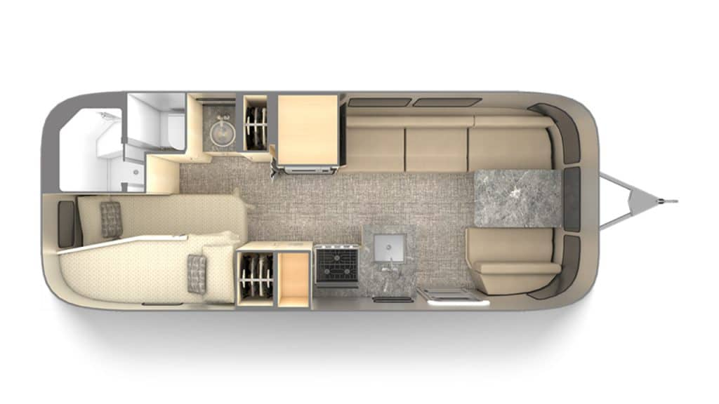 Airstream Flying Cloud 23CB Bunk Structure