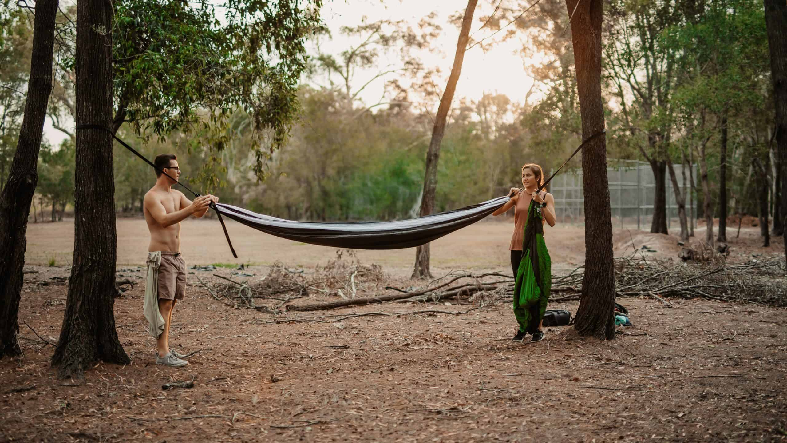Sleeping in a Hammock with a Partner Image