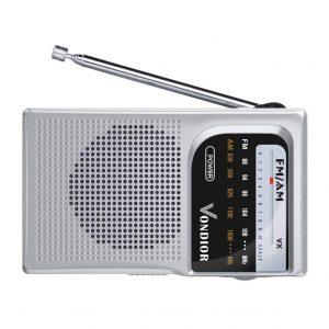 Vondior AM FM Battery Operated Portable Pocket Radio